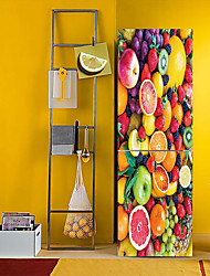 Недорогие -наклейки на холодильник - 3d наклейки на стены пейзаж / абстрактная столовая / кухня