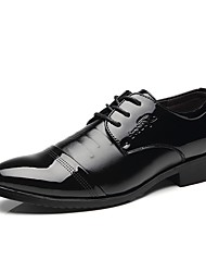 baratos -Homens Sapatos Confortáveis Couro Ecológico Primavera & Outono Oxfords Preto