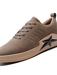זול -בגדי ריקוד גברים נעלי נוחות PU אביב יום יומי נעלי ספורט נושם שחור / אפור / חאקי
