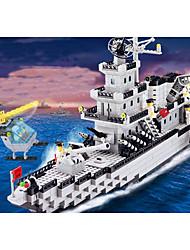 Недорогие -Конструкторы 970 pcs Армия Военные корабли Авианосец моделирование Ручная работа Катер Авианосец Все Игрушки Подарок Legoingly