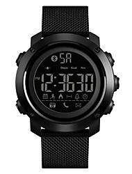 Недорогие -SKMEI Муж. Спортивные часы Армейские часы электронные часы Цифровой Нержавеющая сталь Черный 50 m Защита от влаги Bluetooth Будильник Цифровой Роскошь Мода - Черный Один год Срок службы батареи