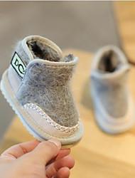 Недорогие -Мальчики / Девочки Обувь Кожа Зима Зимние сапоги Ботинки для Дети Черный / Серый / Розовый