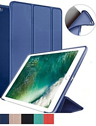 Недорогие -Кейс для Назначение Apple iPad (2018) / iPad Pro 11'' Защита от удара / Флип / Ультратонкий Чехол Однотонный Мягкий Силикон для iPad Air / iPad 4/3/2 / iPad Mini 3/2/1