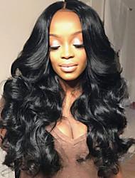Недорогие -Натуральные волосы Бесклеевая сплошная кружевная основа Бесклеевая кружевная лента Полностью ленточные Парик Бразильские волосы Естественные кудри Парик 130% 150% 180% Плотность волос