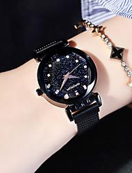 Недорогие -Жен. Нарядные часы Кварцевый Нержавеющая сталь Черный / Синий / Фиолетовый Защита от влаги Cool Аналоговый Мода Элегантный стиль - Лиловый Синий Розовое золото