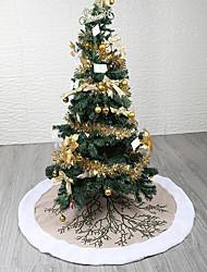 abordables -Sapins de Noël / Noël / Décorations de Noël Vacances / Arbre de Noël Textile Rond / Circulaire Soirée Décoration de Noël