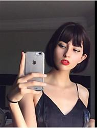 Недорогие -человеческие волосы Remy Полностью ленточные Лента спереди Парик Бразильские волосы Естественные прямые Парик Короткий Боб 130% 150% 180% Плотность волос Сияние Sexy Lady Cool Удобный удобный