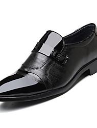 זול -בגדי ריקוד גברים נעליים פורמליות PU אביב עסקים נעליים ללא שרוכים ללבוש הוכחה שחור