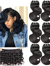 tanie -6 pakietów Włosy brazylijskie Body wave Włosy naturalne remy Doczepy z naturalnych włosów 8-22 in Ludzkie włosy wyplata Modny design Miękka Najwyższa jakość Ludzkich włosów rozszerzeniach Damskie