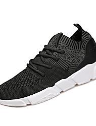 hesapli -Erkek Ayakkabı Elastik Kumaş / Tissage Volant Bahar Sportif Atletik Ayakkabılar Koşu Atletik için Siyah / Koyu Gri / Açık Gri / Zıt Renkli