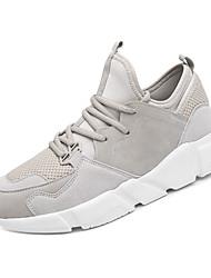 זול -בגדי ריקוד גברים נעלי נוחות סוויד אביב ספורטיבי נעלי אתלטיקה ריצה נושם קולור בלוק לבן / שחור / חאקי