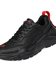hesapli -Erkek Ayakkabı PU Kış Sportif Atletik Ayakkabılar Koşu Atletik için Beyaz / Siyah / Siyah / Beyaz