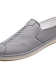 hesapli -Erkek Ayakkabı Kanvas Bahar Günlük Mokasen & Bağcıksız Ayakkabılar Günlük için Siyah / Gri
