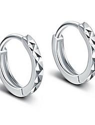 Недорогие -1 пара Жен. Классический Серьги-кольца Серьги, обнимающие мочку уха - Романтика Бижутерия Серебряный Назначение Свадьба Повседневные