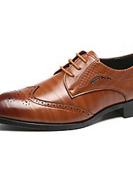 baratos -Homens Sapatos formais Sintéticos Primavera & Outono Casual / Formais Oxfords Não escorregar Marron / Azul / Vinho