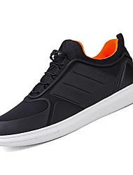 hesapli -Erkek Ayakkabı PU Kış Günlük Spor Ayakkabısı Günlük için Siyah / Siyah / Beyaz