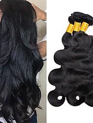 Χαμηλού Κόστους -3 δεσμίδες Βραζιλιάνικη / Ινδική Κυματιστό Φυσικά μαλλιά / Χωρίς επεξεργασία Ανθρώπινη Τρίχα Υφάνσεις ανθρώπινα μαλλιών / Μπομπονιέρες Πάρτι Τσαγιού / Προέκταση 8-28 inch Φυσικό Χρώμα