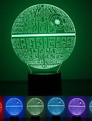 Недорогие -1шт сила пробуждает разноцветные настольные лампы звезды смерти 3d лампочки смерти звезды для фанатов звездных войн