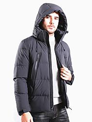 Недорогие -Муж. толстовка с капюшоном куртки Куртка для туризма и прогулок на открытом воздухе Осень Зима С защитой от ветра Воздухопроницаемость Устойчивость к УФ Мягкость Экологичность Полиэстер