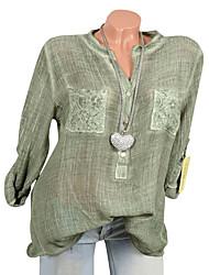 Недорогие -Жен. Кружева Рубашка Однотонный