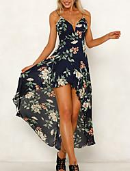 Недорогие -Жен. Классический Оболочка Платье Ассиметричное