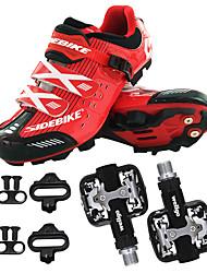 Недорогие -BOODUN/SIDEBIKE® Обувь для горного велосипеда Велообувь с педалями и шипами Муж. Пригодно для носки Спортивные Искусственное волокно EVA