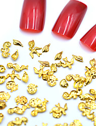 halpa -Metalli Nail Jewelry Käyttötarkoitus Sormen kynsi Varpaan kynsi 3D-liitäntä / Erityisrakenne / Kulumisenkestävä Toteemisarja Eläinsarja Korusarjat kynsitaide Manikyyri Pedikyyri Trooppinen / Muoti