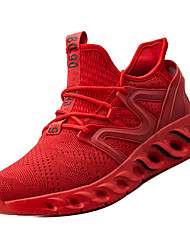 hesapli -Erkek Ayakkabı PU / Tissage Volant Kış Sportif Atletik Ayakkabılar Koşu Atletik için Beyaz / Siyah / Kırmzı / Zıt Renkli
