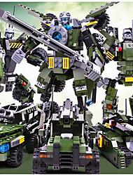 Недорогие -GUDI Конструкторы Конструкторы Игрушки Обучающая игрушка 200-400 pcs Воин Армия Танк совместимый Legoing трансформируемый Танк Все Мальчики Девочки Игрушки Подарок
