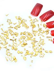 halpa -Metalli Nail Jewelry Käyttötarkoitus Sormen kynsi Varpaan kynsi Matta / Minityyli / 3D-liitäntä Toteemisarja Eläinsarja Korusarjat kynsitaide Manikyyri Pedikyyri Geometrinen / Muoti Joulu / Halloween