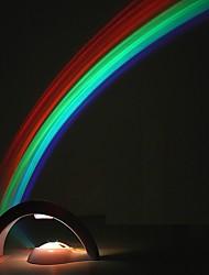 abordables -créatif led arc en ciel coloré veilleuses romantique arc en ciel projecteur lampe coway copine roman en particulier petits cadeaux