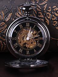 Недорогие -Муж. Часы со скелетом Карманные часы Механические, с ручным заводом Черный Повседневные часы Cool Аналоговый Винтаж На каждый день Steampunk - Черный