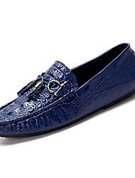 hesapli -Erkek Ayakkabı PU Kış Günlük Mokasen & Bağcıksız Ayakkabılar Günlük için Beyaz / Siyah / Mavi