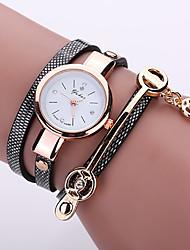 ราคาถูก -สำหรับผู้หญิง นาฬิกาข้อมือ นาฬิกาอิเล็กทรอนิกส์ (Quartz) PU Leather ดำ / สีขาว / ฟ้า นาฬิกาใส่ลำลอง ระบบอนาล็อก แฟชั่น สีสัน - แดง ฟ้า สีกากี หนึ่งปี อายุการใช้งานแบตเตอรี่ / SSUO 377
