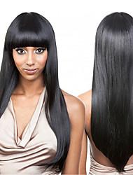 Недорогие -человеческие волосы Remy Лента спереди Парик Бразильские волосы Прямой Парик 130% Плотность волос 100% девственница Жен. Длинные Парики из натуральных волос на кружевной основе beikashang