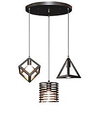 billiga -3-Light Klunga Hängande lampor Glödande Målad Finishes Metall designers 110-120V / 220-240V Varmt vit Glödlampa inte inkluderad / E26 / E27
