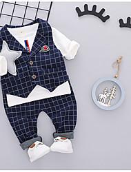 お買い得  -赤ちゃん 男の子 ストリートファッション 日常 チェック ノースリーブ レギュラー レギュラー ポリエステル アンサンブル ルビーレッド / 幼児