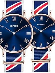 Недорогие -Kopeck Для пары Наручные часы электронные часы Японский Японский кварц Нейлон Черный / Серый / Небесно-голубой 30 m Защита от влаги Новый дизайн Повседневные часы Аналоговый Мода Цветной -
