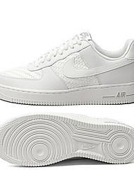 abordables -Homme Chaussures de confort Cuir / Maille Printemps été Décontracté Basket Course à Pied / Marche Respirable Blanc