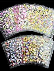 Недорогие -24 pcs 3D наклейки на ногти Бабочка маникюр Маникюр педикюр Многофункциональный / Лучшее качество модный / Мода Повседневные