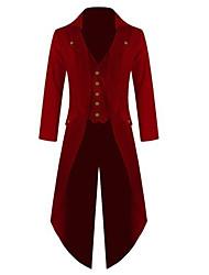 Недорогие -Доктор чумы Средневековый Steampunk Костюм Муж. Пальто Красно-черный / Зеленый / Синий Винтаж Косплей Хлопок Длинный рукав Широкий, стянутый у запястья