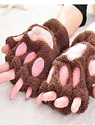 Недорогие -женский запястье длиной половина пальца перчатки - цветной блок