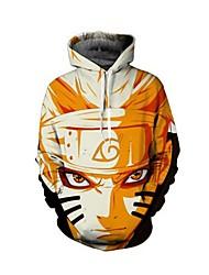 halpa Cosplay-rooliasut arkeen-Naruto Pusero / hame Polyesteria 3D Print Käyttötarkoitus Miesten