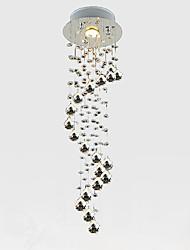 Недорогие -LightMyself™ Кристаллы Подвесные лампы Потолочный светильник Хром Хрусталь Хрусталь, Мини 110-120Вольт / 220-240Вольт Лампочки включены / GU10