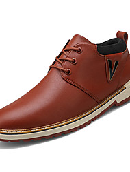 hesapli -Erkek Ayakkabı PU Bahar Günlük Oxford Modeli Günlük için Siyah / Kahverengi