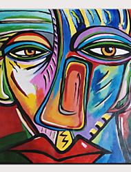 Недорогие -Hang-роспись маслом Ручная роспись - Известные картины / Люди Modern Без внутренней части рамки