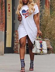 1dbf59e8c5d550 Dames Street chic T Shirt Jurk - Geometrisch
