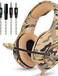 Недорогие -Factory OEM K1B Головная повязка Проводное Наушники наушник ABS + PC Игры наушник С микрофоном / С регулятором громкости наушники