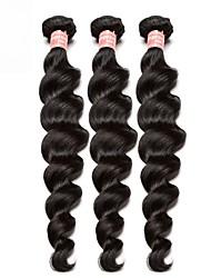 levne -3 svazky Brazilské vlasy Volné vlny Panenské vlasy Lidské vlasy Vazby Bundle Hair 10-26 inch Přírodní Lidské vlasy Vazby Rozšíření lidský vlas