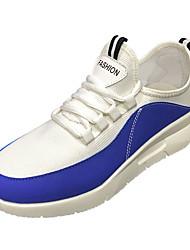 hesapli -Erkek Ayakkabı Örümcek Ağı / PU Bahar Sportif Atletik Ayakkabılar Yürüyüş Atletik için Siyah / Beyaz / Mavi / Zıt Renkli